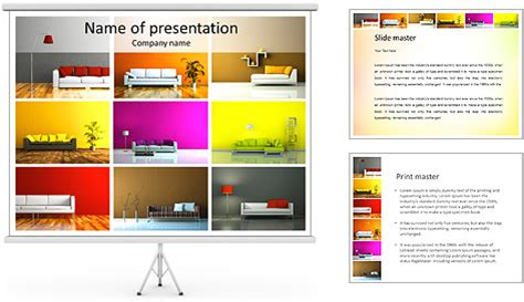 Powerpoint Template Card Catalog by Furniture Catalogue Powerpoint Template Backgrounds Id