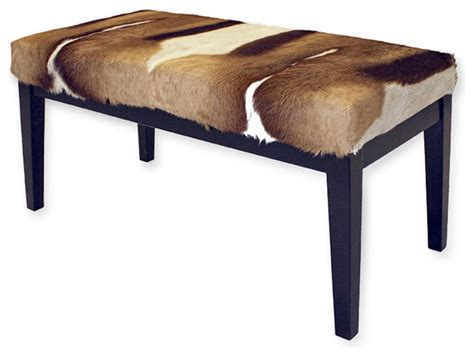 contemporary benches for bedroom south african springbok hide bench contemporary