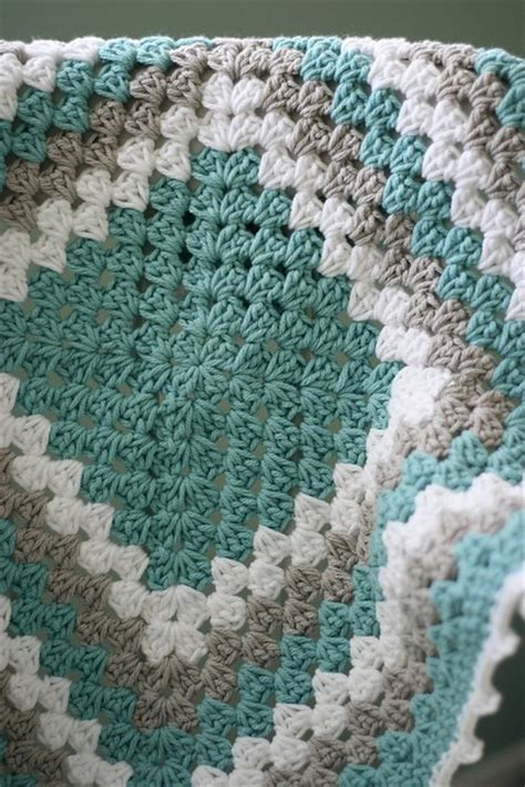 Free Square Baby Blanket Pattern by Free Pattern Tutorial Never Ending Crochet