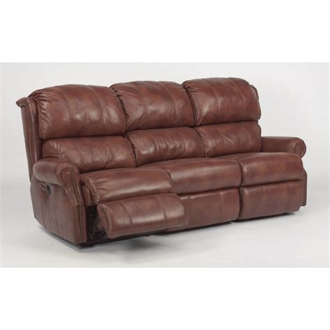 flexsteel reclining sofa flexsteel 1227 62p comfort leather power reclining sofa