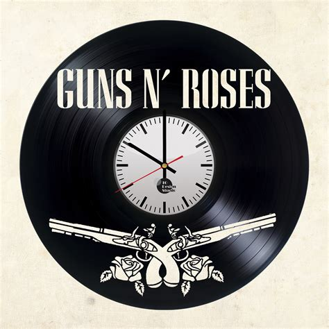 Wall Clock Handmade - guns n roses handmade vinyl record wall clock vinyl clocks