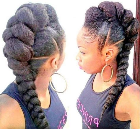 Mohawk Braid Hairstyle by 20 Badass Mohawk Hairstyles For Black