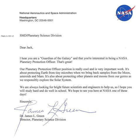 This 9 Year Wrote A Application Letter To Nasa And