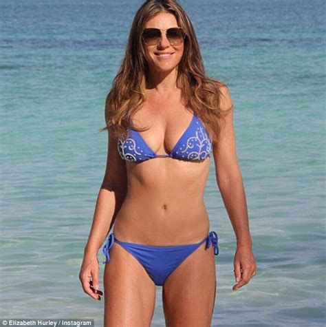Liz Hurley And Teri Hatcher by Elizabeth Hurley Slips Into Tiny Gold In India