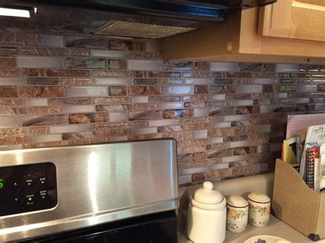 peel and stick backsplash from lowes my chalk paint and