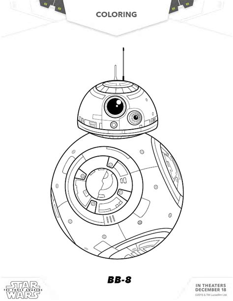 star wars coloring pages games free star wars bb 8 coloring page party printables games