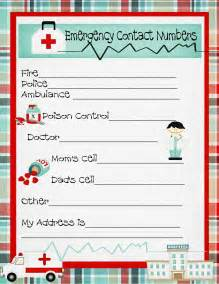 emergency numbers printable emergency contact phone