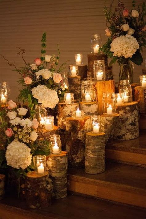 wedding decoration ideas with candles 50 beautiful rustic wedding decorations