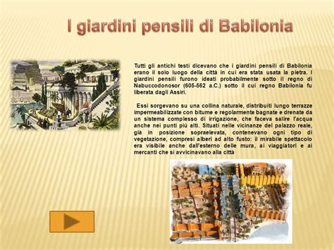 giardini pensili di babilonia scuola primaria gli aspetti geografici ppt scaricare