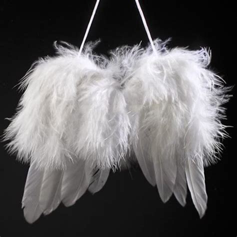 fluffy feather christmas tree decoration angel wings white feather wing tree diy decor hanging ornament wedding prop ebay