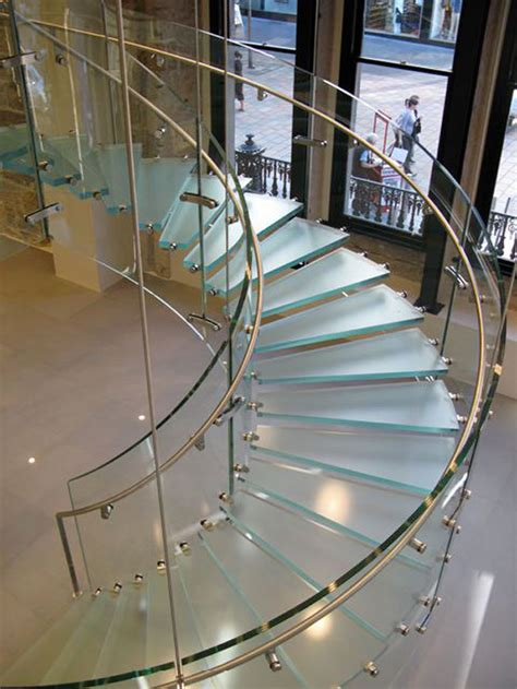 Modern Glass Stairs Design New Home Designs September 2012