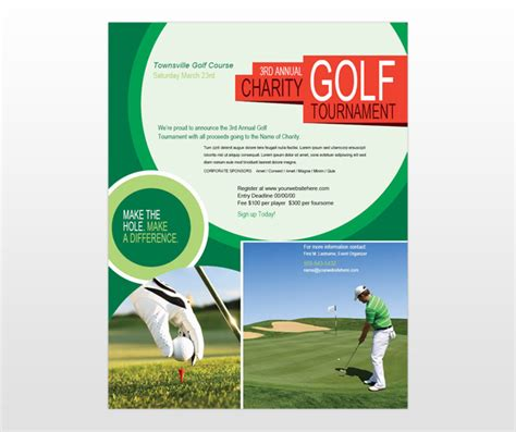 golf brochure templates golf tournament golf scramble flyer template
