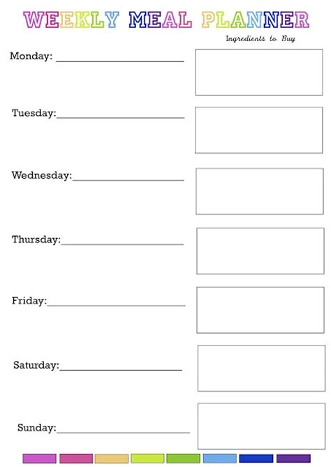 free printable meal planning ideas everyday loves blog weekly meal planning tips and free