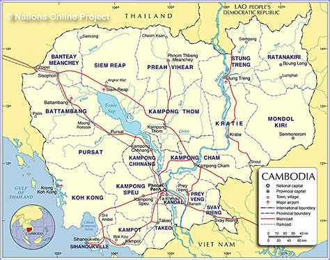 map of cambodia small map of cambodia nations project