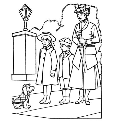 mary poppins coloring pages disney world pinterest