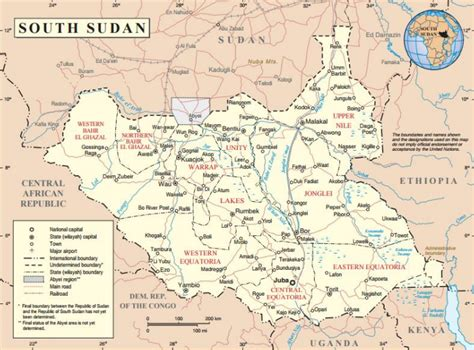 south sudan map country profile of south sudan acaps