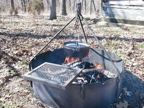 Backyard Bbq Norwood Details About 36 Quot Ring With Tripod Swing Grate