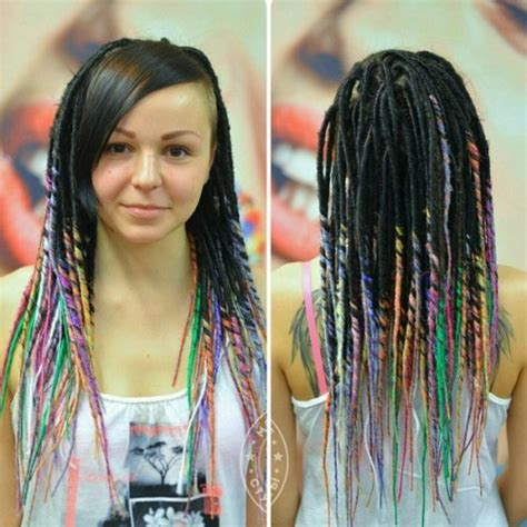 dreadlocks and weave combined together for a bang hairstyle 30 creative dreadlock styles for girls and women