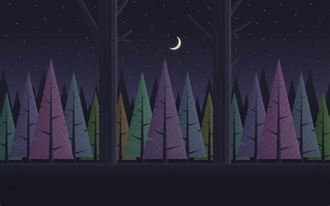 wallpapers  night forest material design