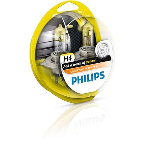 Lu Philips Premium H4 2 oules philips premium colorvision jaune h4 feu vert