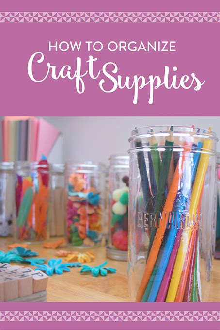 how to organize crafts how to organize craft supplies the inspired home