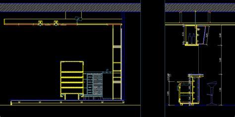 construction details bar dwg detail  autocad designs cad