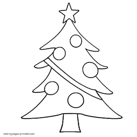 simple christmas tree coloring pages easy christmas tree coloring page