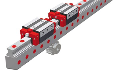 dimensionamento cremagliera profiled rail rack pinion integrated solution
