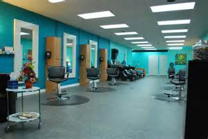 the color scheme could be for a salon with