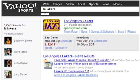 Tahoo Mba by Yahoo Adds New Features To Its Finance And Sports Pages