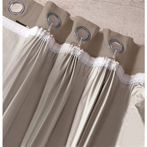 how to make curtains with blackout lining meso blackout lining taupe brown la redoute interieurs