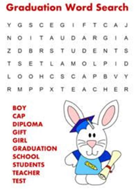 printable word search graduation 15 best images about graduation crafts for kids on