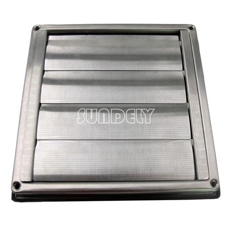 stainless steel wall air vent square bathroom extractor