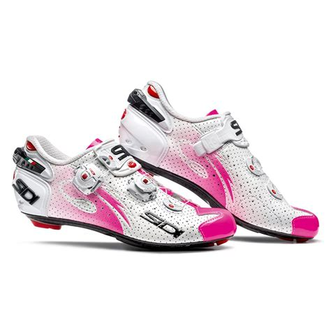 pink bike shoes sidi s wire carbon air vernice cycling shoes white