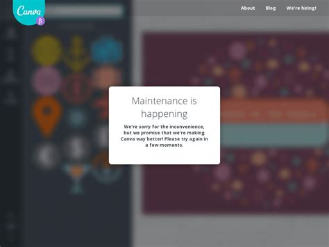 Canva Error   canva down current status and outage history