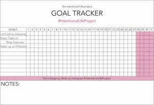 Goal Tracker Template by Monthly Goal Tracker Printable Search Results Calendar