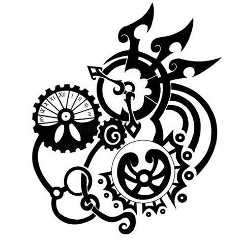 tribal gear tattoo designs steunk ideas steam