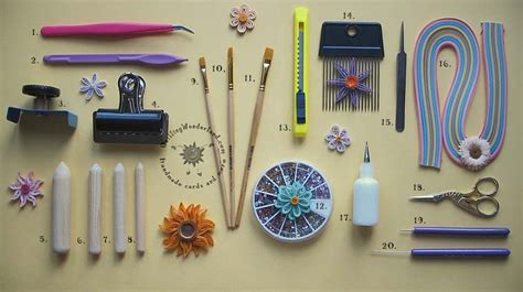Paper Tools - quilling tools all difficult names in one place you don