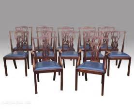 mahogany dining room chairs set of twelve antique mahogany dining room chairs