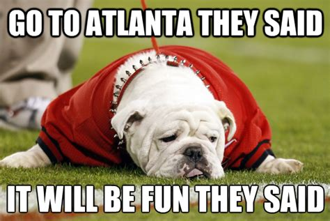 Georgia Bulldogs Memes - we went there is atlanta really a sports cesspool an