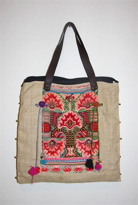 Embroidered Canvas Tote Bag embroidered tote bags all fashion bags