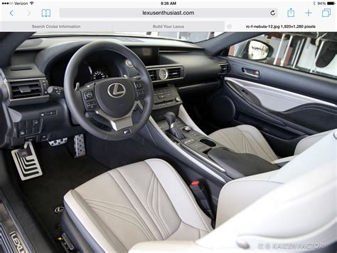 lexus rcf white interior rcf need opinion on interior for 2 0 clublexus