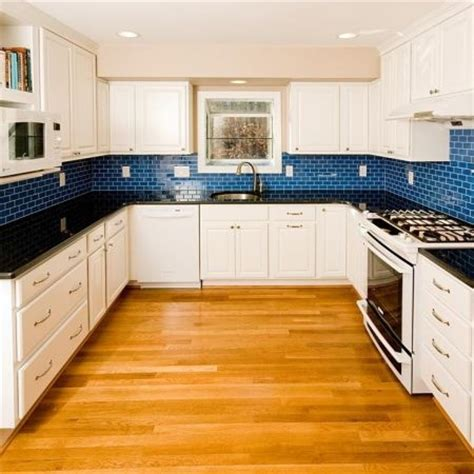 Kitchen Backsplash Blue Bright Blue Backsplash Decozilla