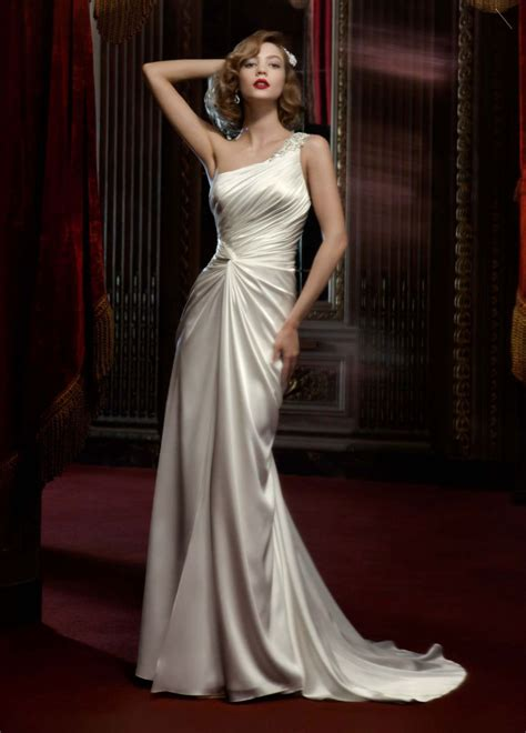One Shoulder Wedding Dress by 20 One Shoulder Wedding Dresses For Brides Beep