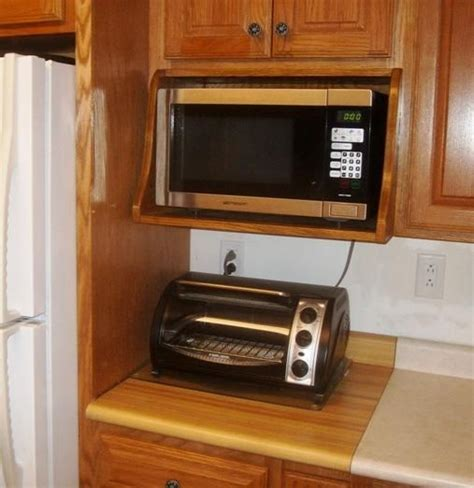 Kitchen Cabinets With Microwave Shelf Just An Idea Free Microwave Shelf Plans How To Build A Microwave Shelf Kitchen Remodel