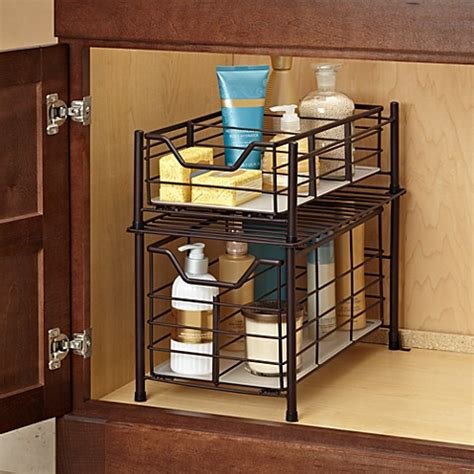 bathroom under cabinet organizers buy bathroom organizers from bed bath beyond