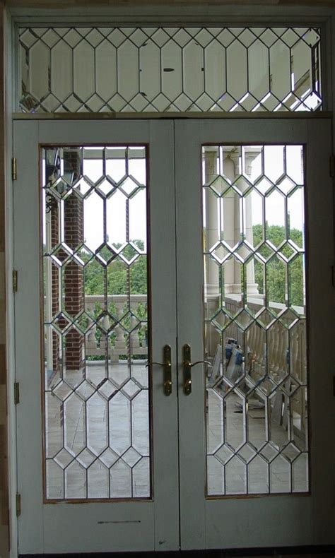 Beveled Glass Front Doors Leaded Stained Glass Entry Beveled Glass Front Door