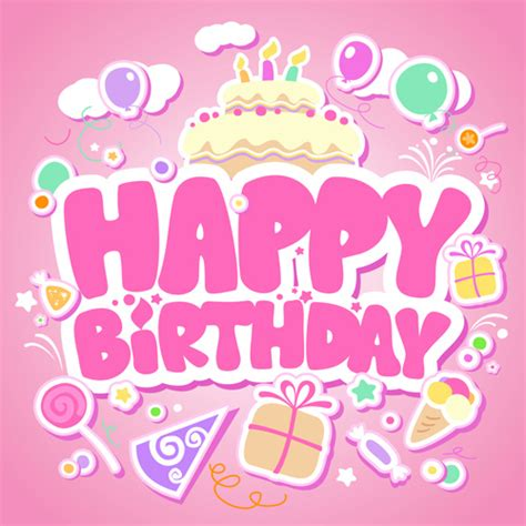 happy birthday design elements creative happy birthday design elements vector art free