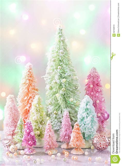 pastel christmas stock image image of balls light chic