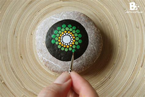 watercolor mandala tutorial mandala stone tutorial green blue colorful crafts